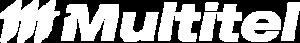 Multitel's logo in white